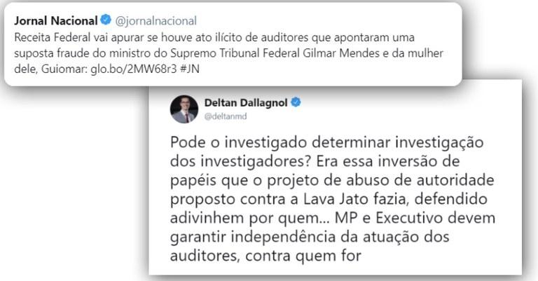 Dallagnol defende investigação de auditores da Receita contra Gilmar Mendes 91871565bd46b
