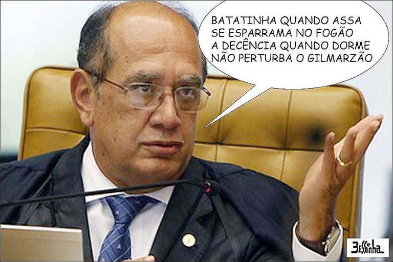 charge bessinha gilmar mendes