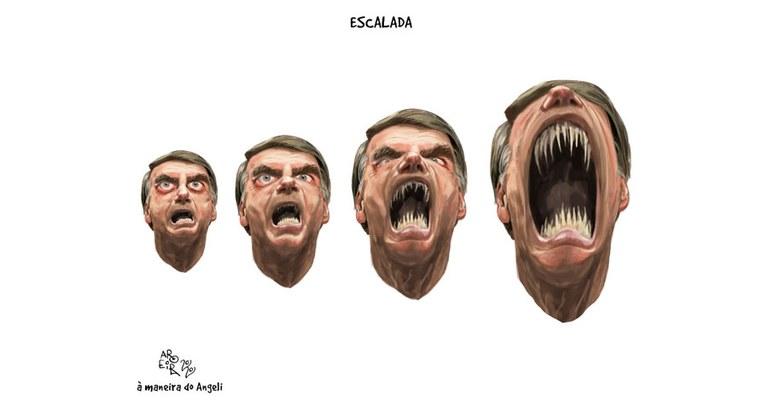 Resultado de imagem para Aroeira charge A Escalada Bolsonaro