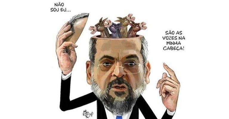 """Ministro da """"Educassão"""" compara Chauí ao nazismo e faz críticas a ..."""