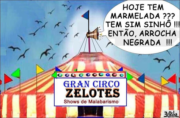 charge bessinha zelotes circo