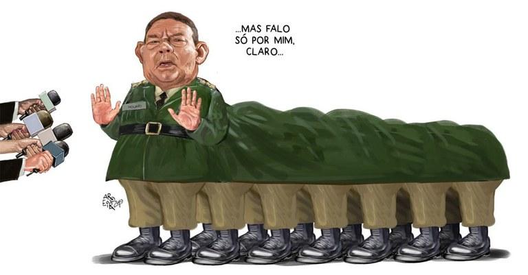 Resultado de imagem para ala militar do Planalto charges