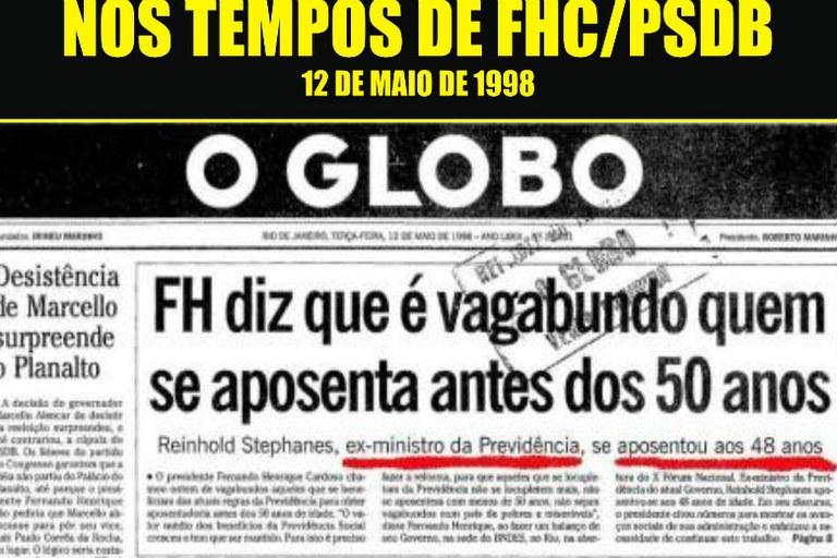 manchete o globo fhc aposentado