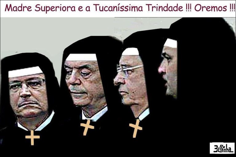 charge bessinha tucanos santos